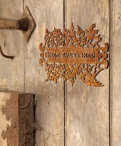 Fretwork Rusty Metal Sign - idea for the plasma cutter