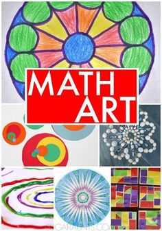 Activities combining math and art for kids.