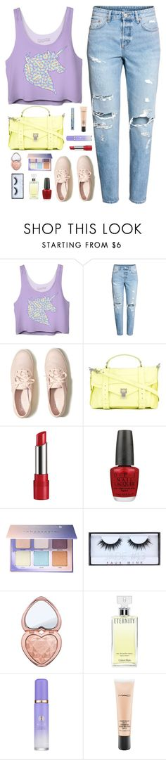 """Unicorn"" by cocochaneljr ❤ liked on Polyvore featuring Hollister Co., Proenza Schouler, Rimmel, OPI, Anastasia Beverly Hills, Huda Beauty, Too Faced Cosmetics, Calvin Klein, Tatcha and MAC Cosmetics"