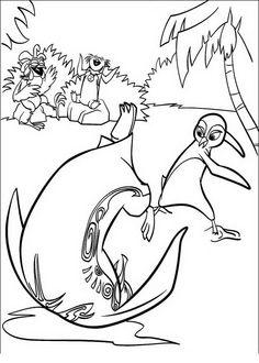 Disegni da colorare per bambini. Colorare e stampa Surf's Up 8