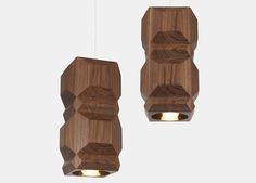 Lee Broom - One Light Only Large Pendant (Walnut) Wood Pendant Light, Pendant Lighting, Fashion Lighting, One Light, Wood Design, Sconces, Art Deco, Bulb, Lights