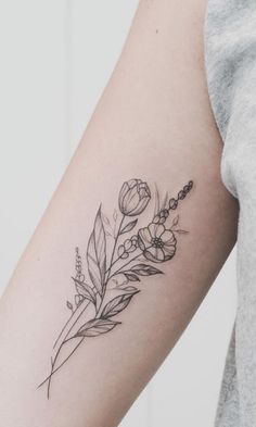 50 Small and Delicate Flower Tattoo Information & Ideas - Brighter Craft - 50 k . - 50 Small and Delicate Flower Tattoo Information & Ideas – Brighter Craft – 50 Small and Delicat - Form Tattoo, 16 Tattoo, Shape Tattoo, Tattoo Wings, Tiny Tattoo, Tattoo Quotes, Unique Tattoos, Beautiful Tattoos, Small Tattoos