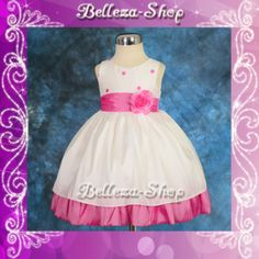 Ivory Wedding Flower Girl Pageant Party Formal Occasion Dress Sz 2T-3T FG121-HP