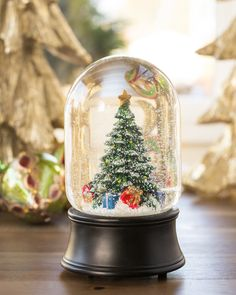 Christmas Tree Musical Snow Globe | Balsam Hill