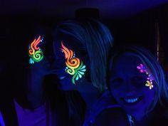 Glowing facepaint