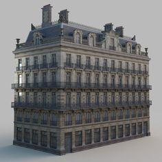 european building architectural 3d model