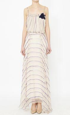 Aeffe White, Purple And Multicolor Dress