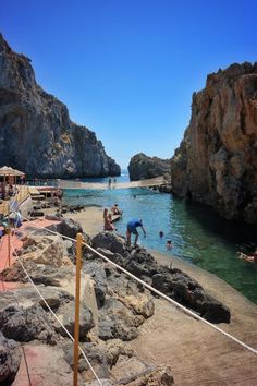Pirate's Fjord, Rethymno, Crete. Public access to the beach.