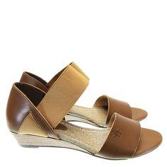 Sandália Anabela Castanho 5081 Aye Aye by Moselle   Moselle sapatos finos femininos! Moselle sua boutique online.