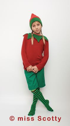 How to make an easy elf costume costume pinterest elves elf costume from miss scotty solutioingenieria Images