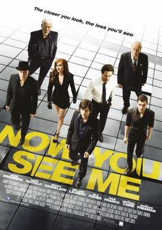 """Now You See Me"" / ""Ahora me ves."" This was actually a great movie. I didn't expect it to be very good, but I thought it was awesome Book Tv, Film Music Books, Music Tv, Hd Movies, Movies To Watch, Movies Online, Movies Showing, Movies And Tv Shows, See Movie"