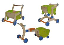 one of Max's First Birthday presents:) Mishi Designs Grow Up Baby Walker & Ride On Toy - Green/Orange