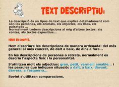 Característiques text descriptiu