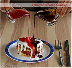 3 Flavored Bread Pudding: Nutella, Strawberry-Jam