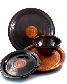 Ceramic Dinnerware Sets  Dinner Plates and Bowls  by PatsPottery,
