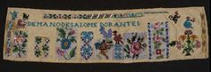 Mexican Beaded sampler made by Solome Dorantes in the 19C  @ Museum of Fine Arts in Boston