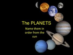 Create Quiz: Which planet is in position x from the sun? > DataTypes, list, array