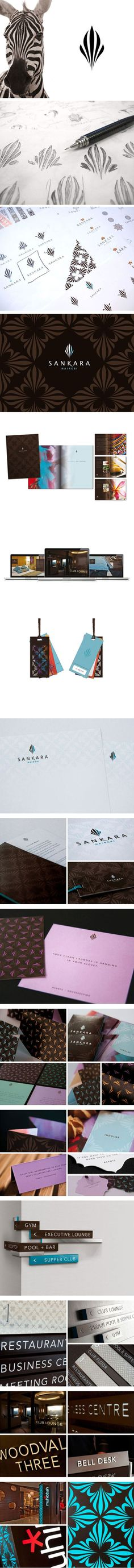 Sankara Hotel / Branding / Identity / Logo / Process / sketch / inspiration / zebra / stripes / pattern / stationery / business card / signs