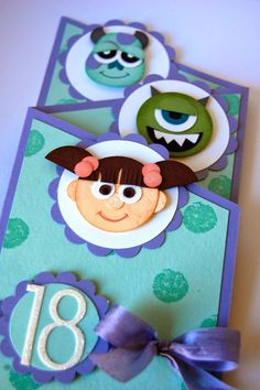 UK Independent Stampin' Up! Demonstrator - Julie Kettlewell: Monsters Inc Punch Art