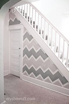 Chevron Accent Wall - 20 Cheap and Affordable DIY Home Decor Ideas