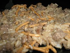 Delish. I cooked the rice in the rice cooker with beef broth. Sauteed chopped celery & mushrooms with the hamburger & onions. Added a splash of worcestershire to the soup mixture.