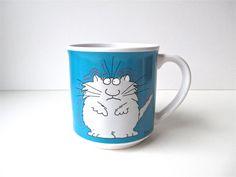 Vintage Sandra Boynton Stressed Cat Mug by HerVintageCrush on Etsy