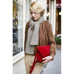 red purse brilliant use of color