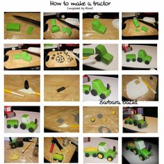 Bildresultat för fondant tractor tutorial cake for you