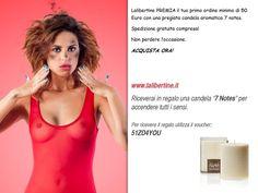 in premio per il tuo ordine minimo di 50 Euro  una pregiata candela aromatica!