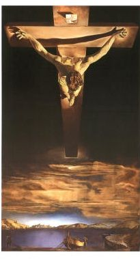 For Ciska - we saw this Dali in Atlanta - crucified Christ suspended on a cross that floats above the earth. An idea he got from a drawing by St. John of the Cross, a 16th century Spanish mystic. It's heart-stopping.