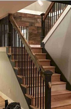 105 Extraordinary and Unique Rustic Stairs Ideas result