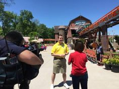 Dana from KSDK-TV in St. Louis visits Holiday World to ride Thunderbird, the nation's only launched wing roller coaster.