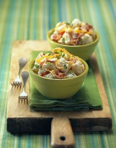 """loaded baked potato salad - 160 calories - BRILLIANT  Blog is also filled with other """"healthy"""" alternatives"""
