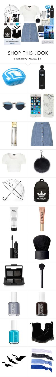 """""""Let's Go Dancing In The Rain"""" by cutienat123 ❤ liked on Polyvore featuring Christian Dior, CASSETTE, Nicole Miller, Michael Kors, Topshop, Kate Spade, adidas Originals, philosophy, NARS Cosmetics and Essie"""