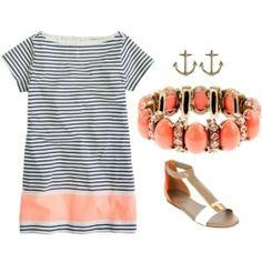 Chic dress and flats! Clambake Style!
