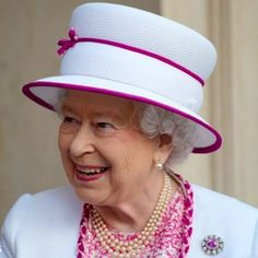 White with pink Trim- Royal Hats