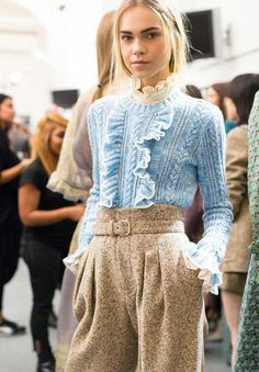 Juxtapose With Heavier Fabrics - How to Wear Ruffles Without Looking Like a Toddler - Photos