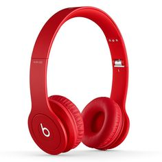 Beats Solo Drenched Headphones (Red Matte)