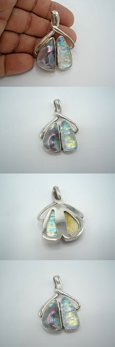 Necklaces and Pendants 110655: Sea Of Cortez Mabe Pearl And Opalescent Dichroic Glass Pendant, Gorgeous -> BUY IT NOW ONLY: $74 on eBay!
