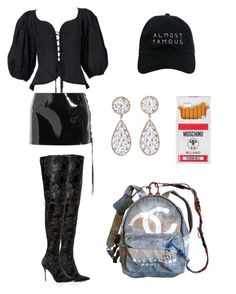 """brat x"" by chxraq on Polyvore featuring Chanel, Yves Saint Laurent, Anthony Vaccarello, Moschino, Nasaseasons, Buccellati, Manolo Blahnik and fashionset"
