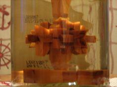 Sticla cu fus compus din 16 piese imbinate