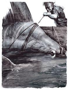 Sea Illustration, Ship Paintings, Sea Art, Sea Monsters, Old Men, Ocean Life, Sea Creatures, Art Techniques, Amazing Photography