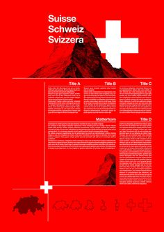 Great Swiss style poster, grids are neat, colour strong and photos are also used interestingly