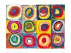 カンディンスキー 正方形の色彩の習作, 1913