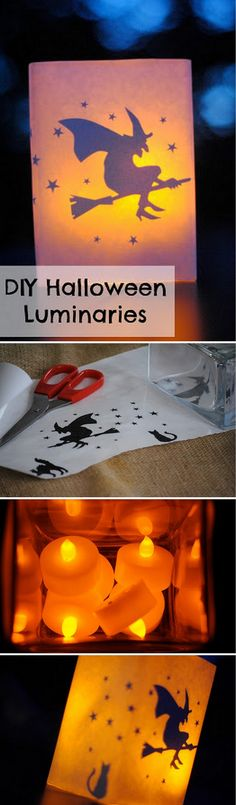 Check out the tutorial on how to make #DIY luminaries for #Halloween home decoration #homedecor @istandarddesign