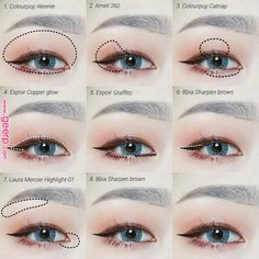 Korean Eye Make Up I Pin By Aki Warinda - therezepte sites Korean Makeup Look, Korean Makeup Tips, Asian Eye Makeup, Korean Makeup Tutorials, Simple Eye Makeup, Makeup For Green Eyes, Uzzlang Makeup, Contour Makeup, Makeup Eyeshadow