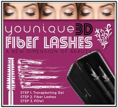 A new dimension of beauty, 3D Fiber Lashes. www.youniqueproducts.com/LeslieBruno