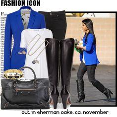 fashion icon: Kourtney Kardashian OUT IN SHERMAN OAKS, CA, NOVEMBER, created by gblondra on Polyvore