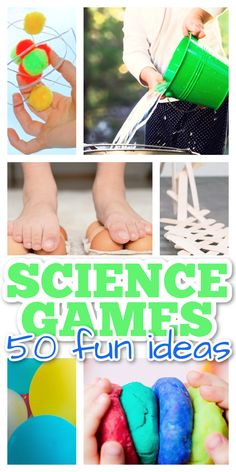 Science Games for Kids - 50 fun ideas that include kitchen science, scientific models, playing with science, simple science experiments, observation and easy scientific method. All the science project fun from Kids Activities Blog! Science Games For Kids, Fun Games, Activities For Kids, Easy Science Experiments, Science Projects, Kitchen Science, Scientific Method, Science And Nature, Fun Ideas