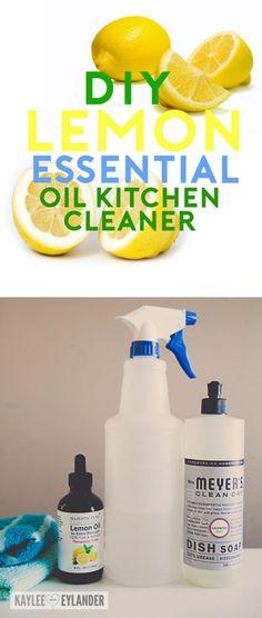 DIY Lemon Essential Oil Kitchen Counter Cleaner Lemon Oil Natural - Kitchen and bathroom cleaner